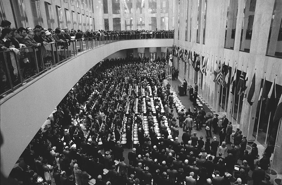 Dedication Ceremonies Attract A Photograph by New York Daily News Archive