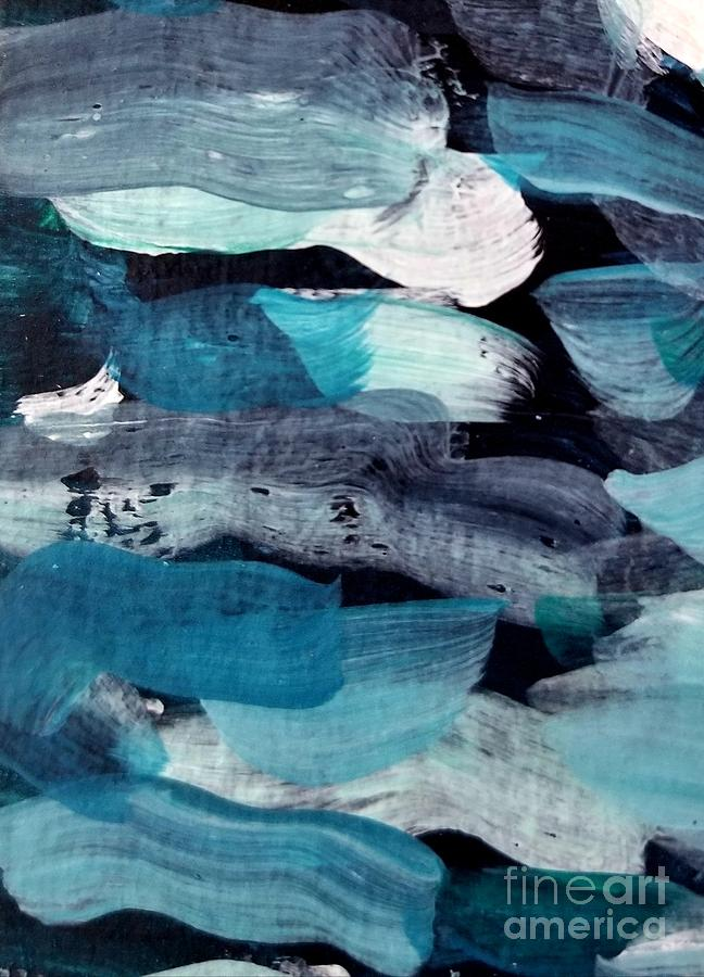 Deep Blue #1 Painting by Maria Langgle
