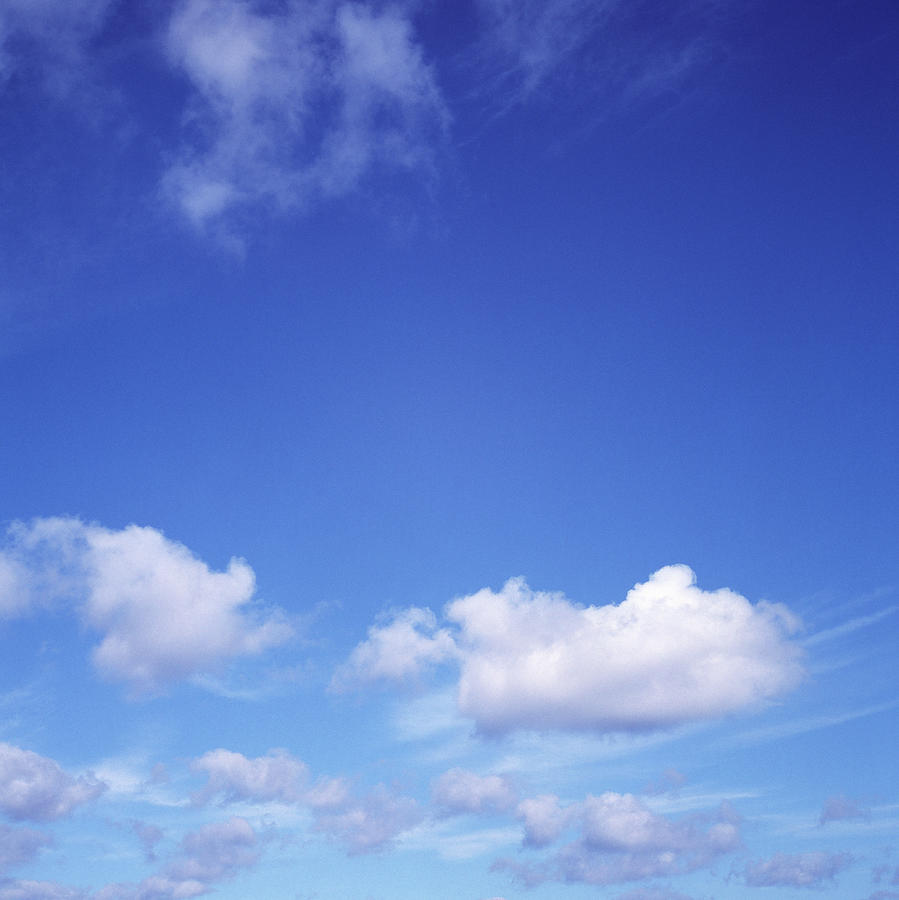 Deep Blue Sky With White Clouds In Photograph by Dougal Waters