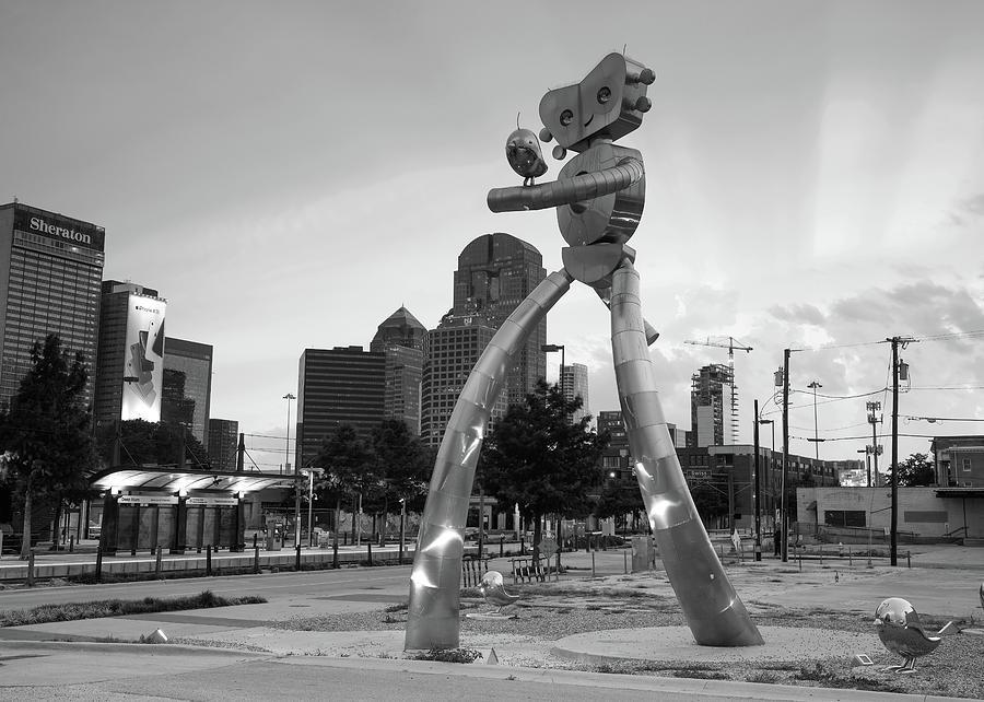 Deep Ellum Dallas Texas Monochrome 070219 by Rospotte Photography
