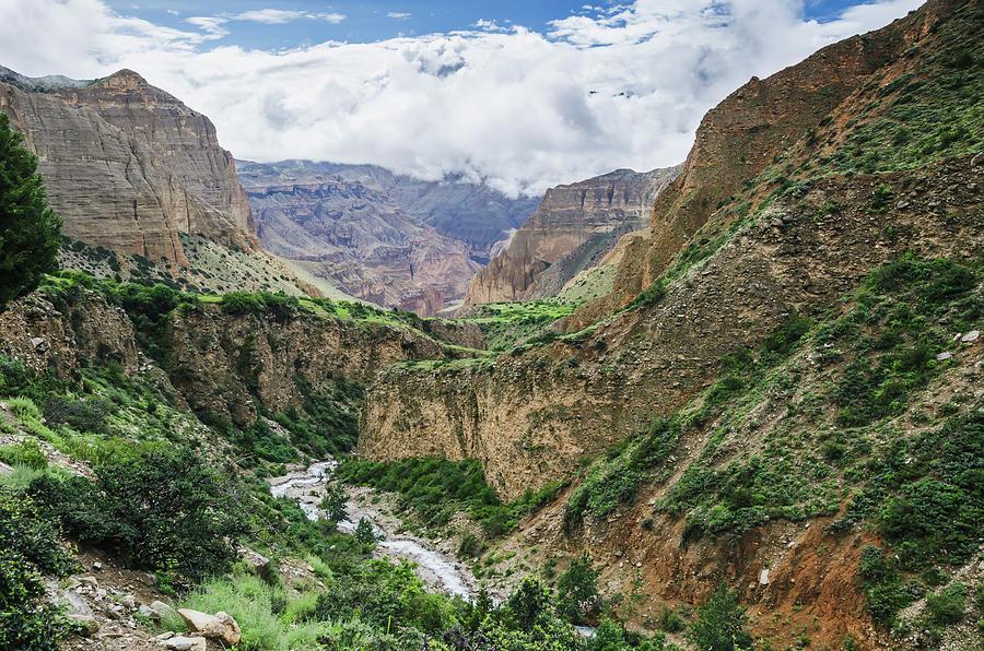Deep Mountain River Canyon Between Photograph by Sergey Orlov / Design Pics