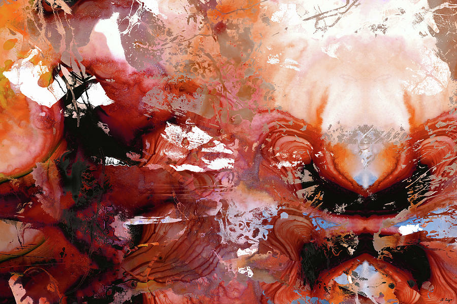 Deep Red Abstract Art - New Awakening - Sharon Cummings by Sharon Cummings