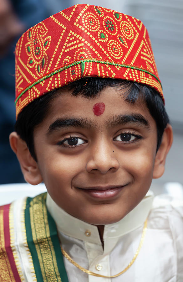 Deepavali NYC 10_6_19 Young Boy in Traditional Dress by Robert Ullmann