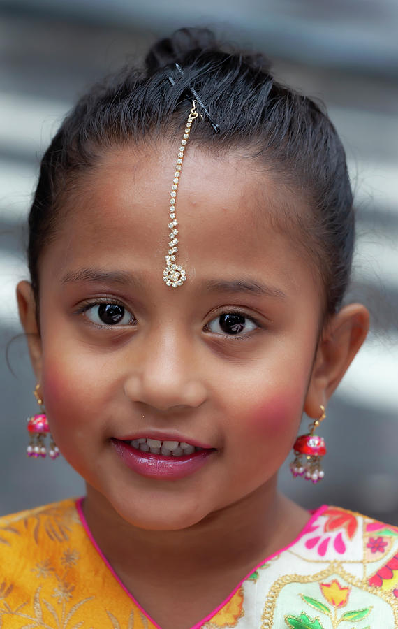 Deepavali NYC 10_6_19 Young Girl in Traditional Dress by Robert Ullmann
