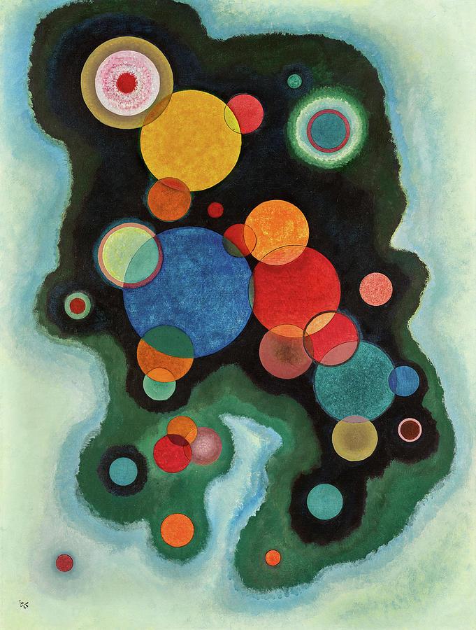 Wassily Kandinsky Painting - Deepened Impulse, Vertiefte Regung, 1928 by Wassily Kandinsky