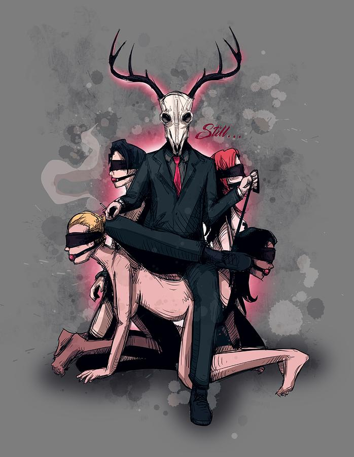 Bdsm Drawing - Deer Daddy 2 Sub Chair by Ludwig Van Bacon