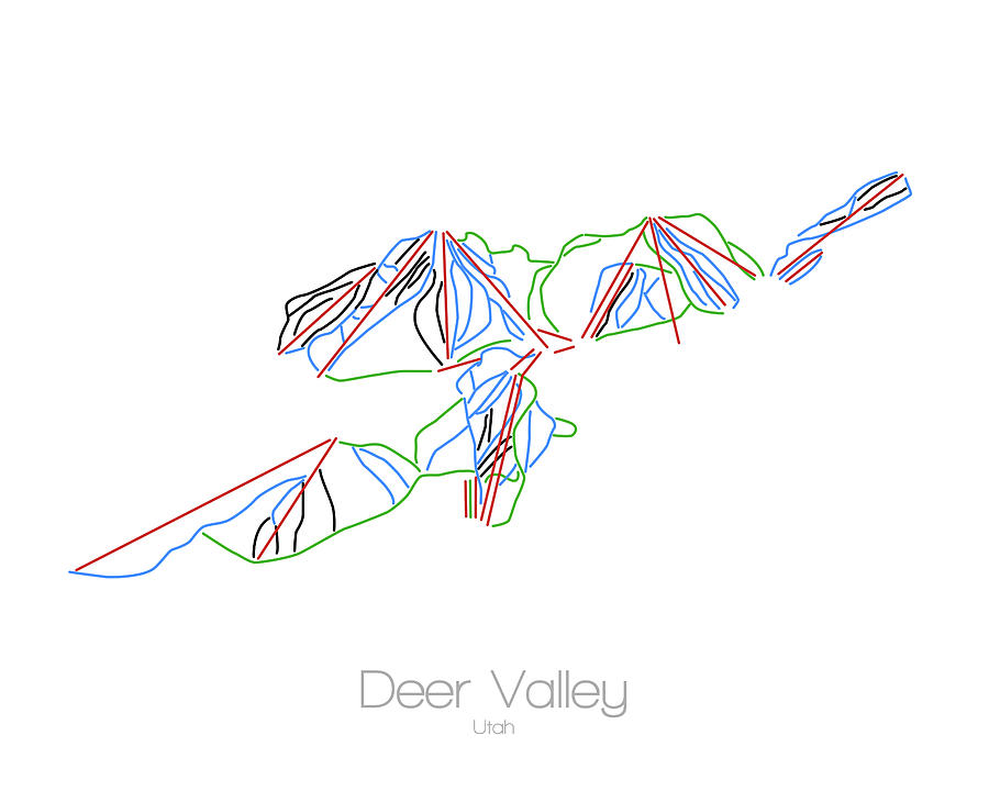 Deer Valley Ski Trail Map on