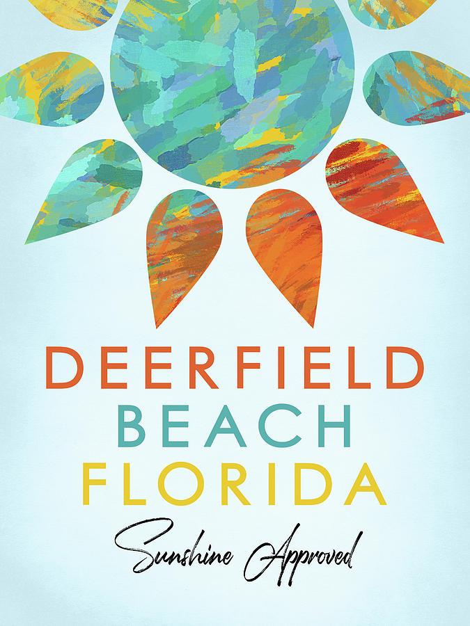 Deerfield Beach Digital Art - Deerfield Beach Florida Sunshine by Flo Karp
