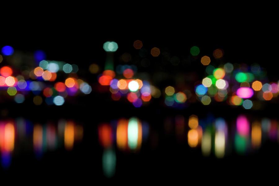 Defocused Lights Photograph by Barcin