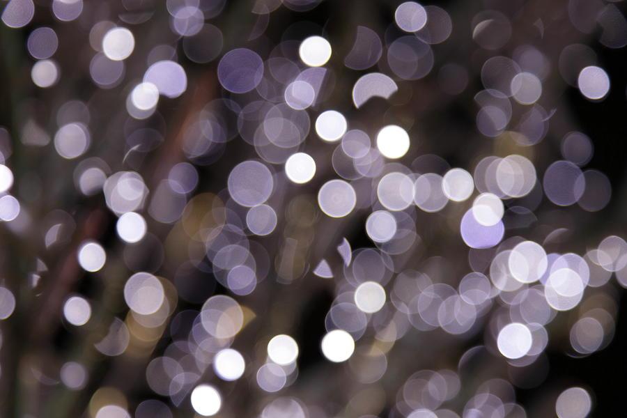 Defocused Purple Light Dots Photograph by Sebastian-julian