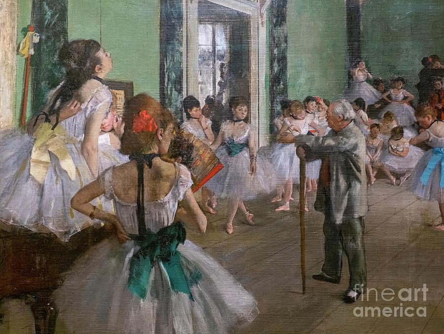 Dance Painting - Degas, The Dance Class Detail by Edgar Degas