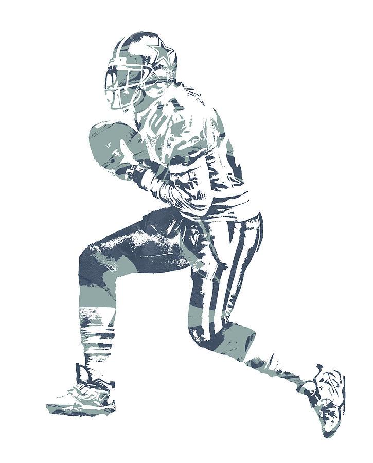Deion Sanders Mixed Media - Deion Sanders Dallas Cowboys  Pixel Art 5 by Joe Hamilton