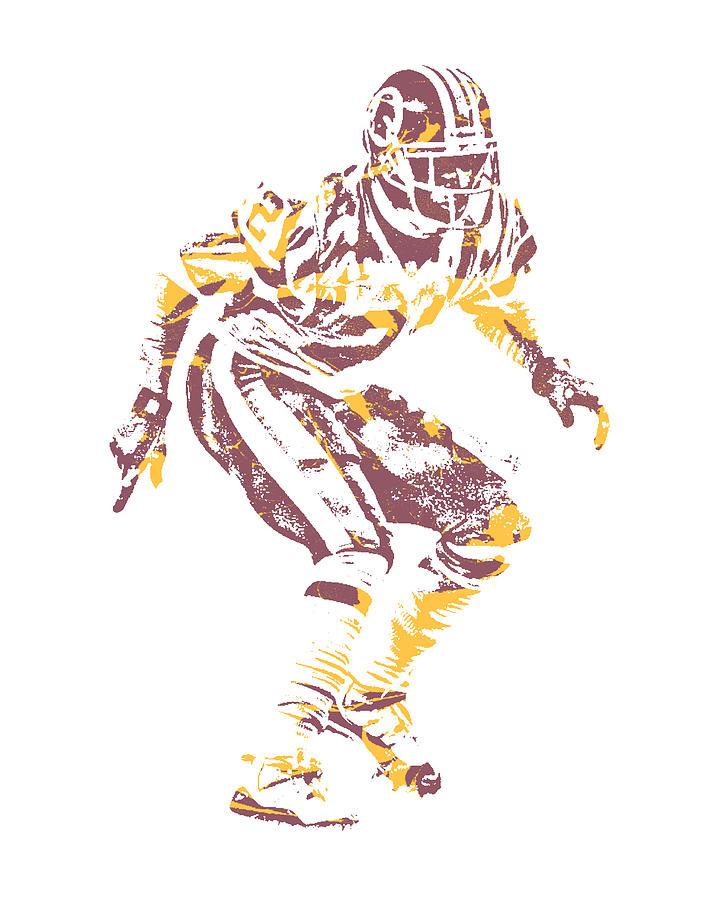 99926cd95 Deion Sanders Mixed Media - Deion Sanders Washington Redskins Pixel Art 1  by Joe Hamilton