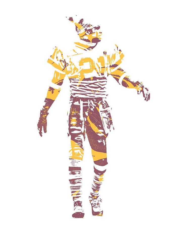 42e03a7d1 Deion Sanders Mixed Media - Deion Sanders Washington Redskins Pixel Art 2  by Joe Hamilton