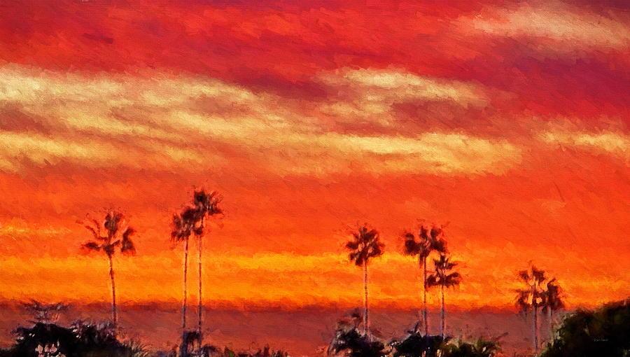 Del Mar Sunset Digital Art