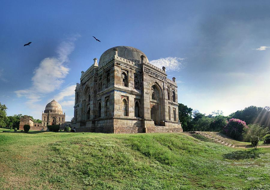 Delhi - Lodhi Gardens Tombs Photograph by Par Etienne Cazin