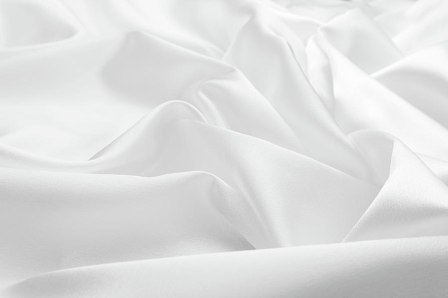 Delicate White Satin Silk Background Photograph by Narcisa