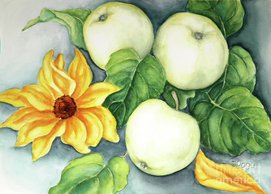 Delicious white apples by Inese Poga