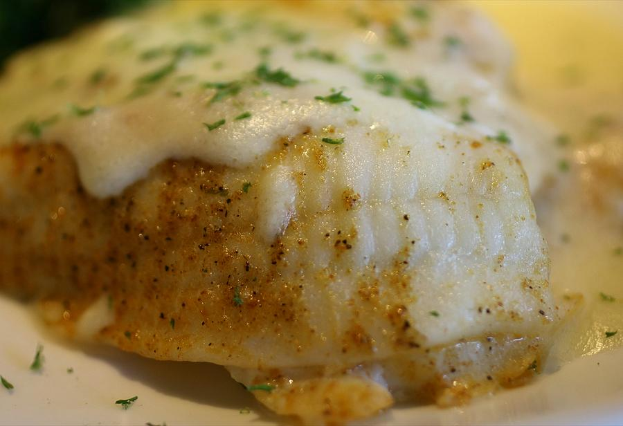 Deliciously Fried Fish Fillet by The Art Of Marilyn Ridoutt-Greene