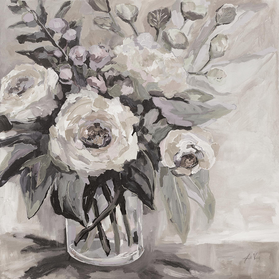 Black And White Painting - Delighted Neutral by Jeanette Vertentes