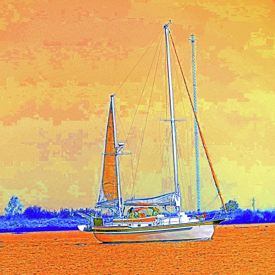 Delta Sails - Orange Sky by Joseph Coulombe