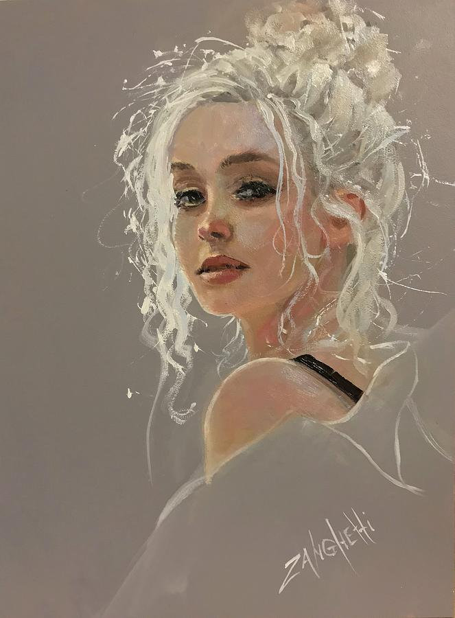 Beautiful Girl Painting - Demo 8 by Laura Lee Zanghetti