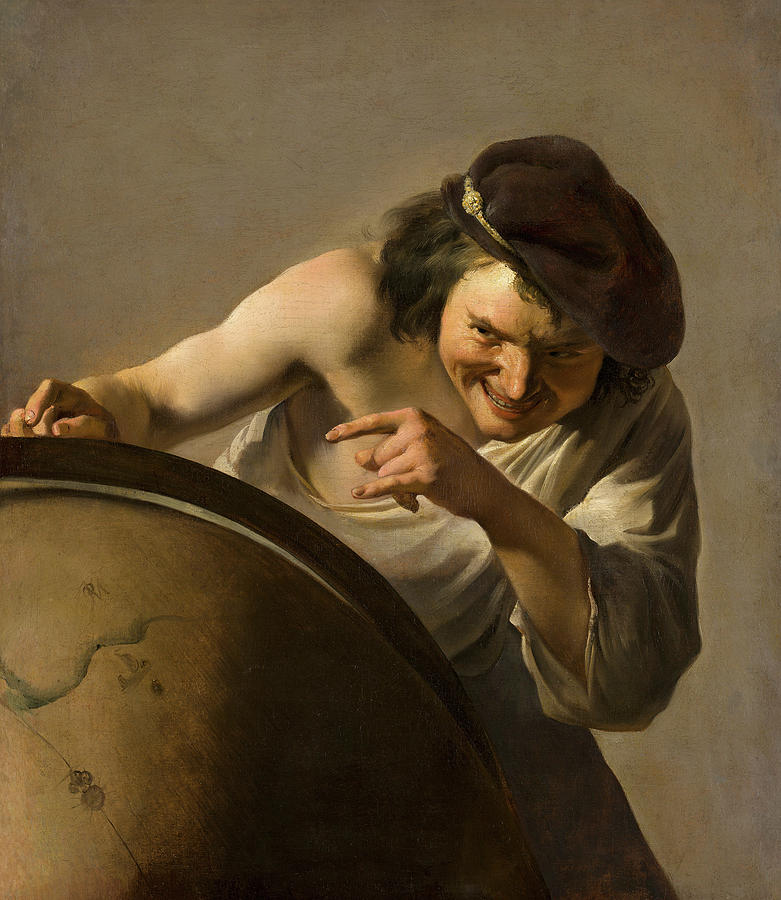Johannes Moreelse Painting - Democritus, The Laughing Philosopher, 1630 by Johannes Moreelse
