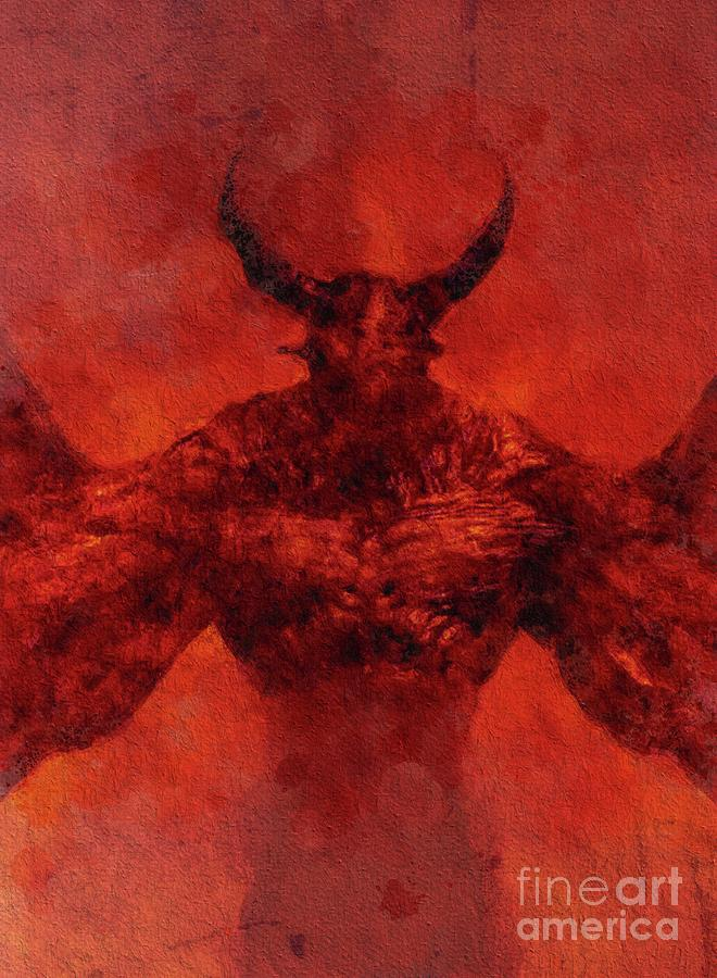 Devil Painting - Demon Lord by Sarah Kirk