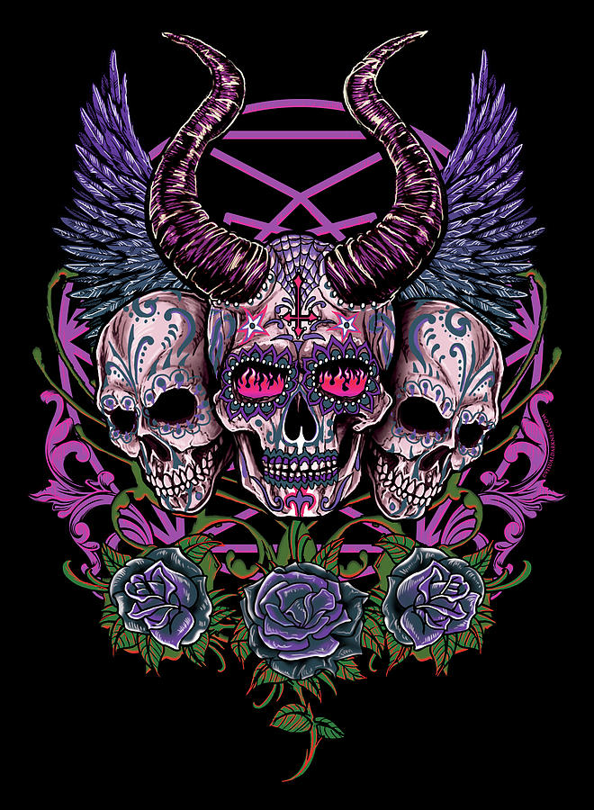 Sugar Skulls Digital Art By Mike Hrubovcak