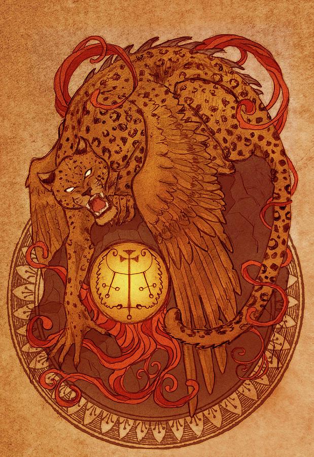 Goetia Digital Art - Demons Of Goetia Haures / Flauros by Cambion Art