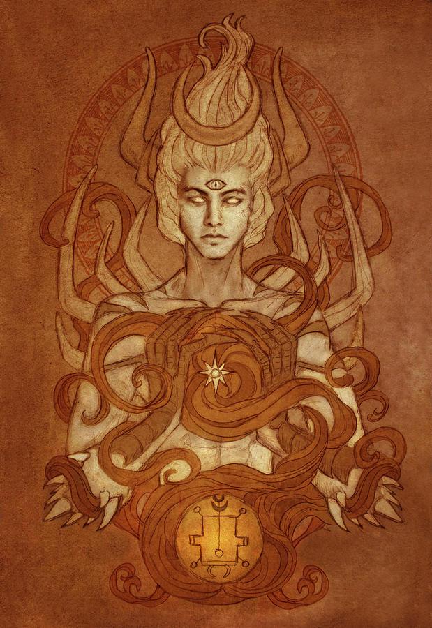 Goetia Digital Art - Demons Of Goetia- Vassago by Cambion Art