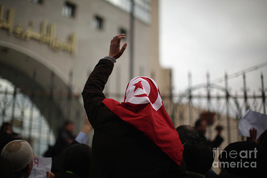 Demonstrations Continue In Tunisia Photograph by Christopher Furlong