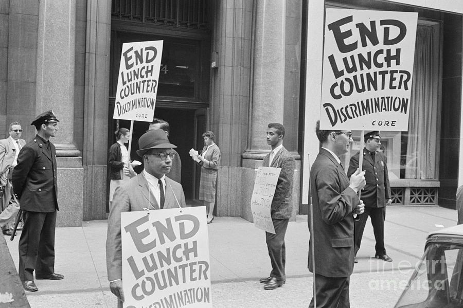 Demonstrators Picketing Kress Company Photograph by Bettmann