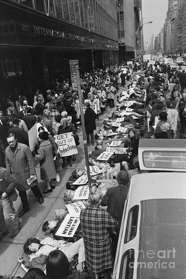 Demonstrators Protesting At Itt Office Photograph by Bettmann