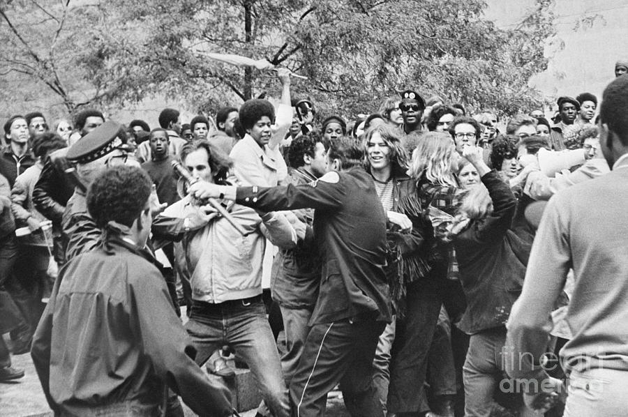 Demonstrators Stuggle With Police Photograph by Bettmann
