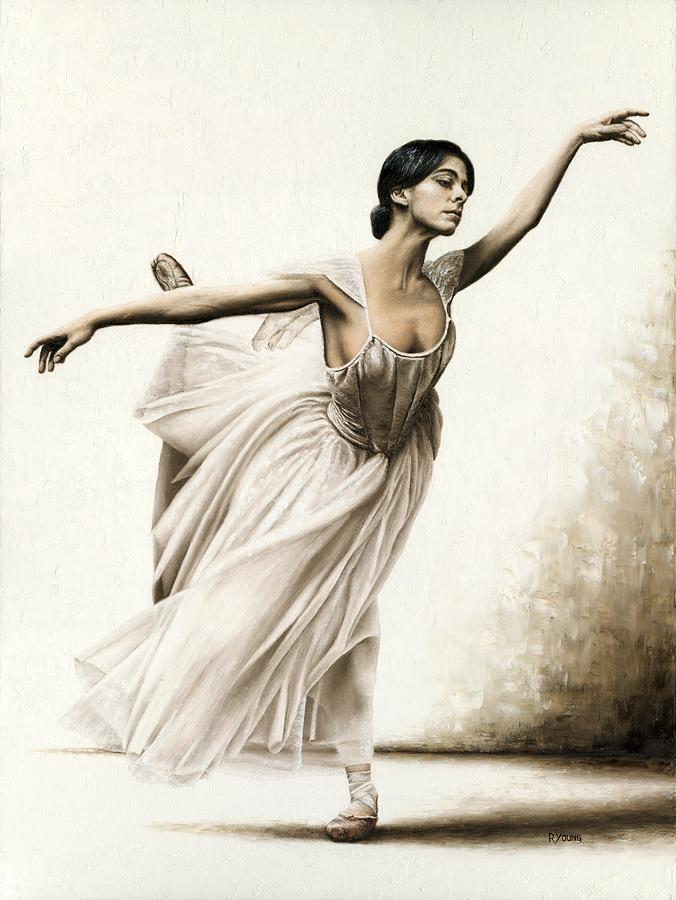 Demure Ballerina Painting