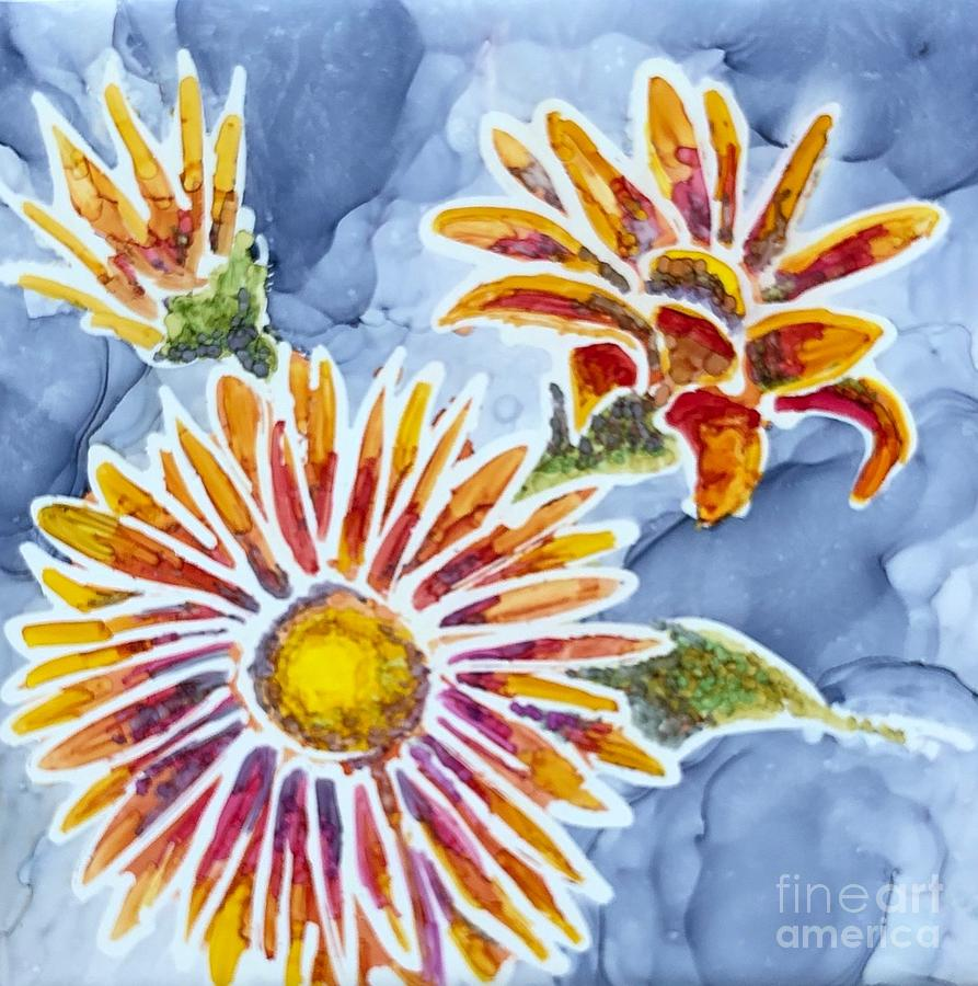 Denim Asters by Lisa DuBois