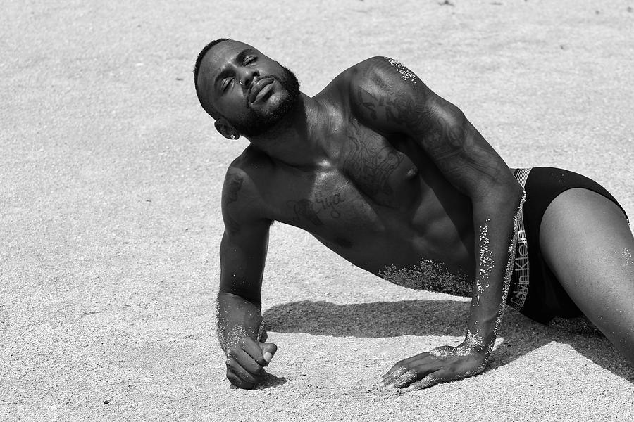 Puertoricans Photograph - Dennis at the Beach by AJ Paris