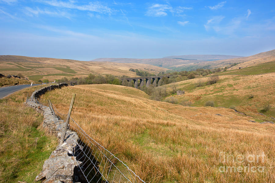 Dent Head Viaduct on the Settle Carlisle Railway in Yorkshire by Louise Heusinkveld