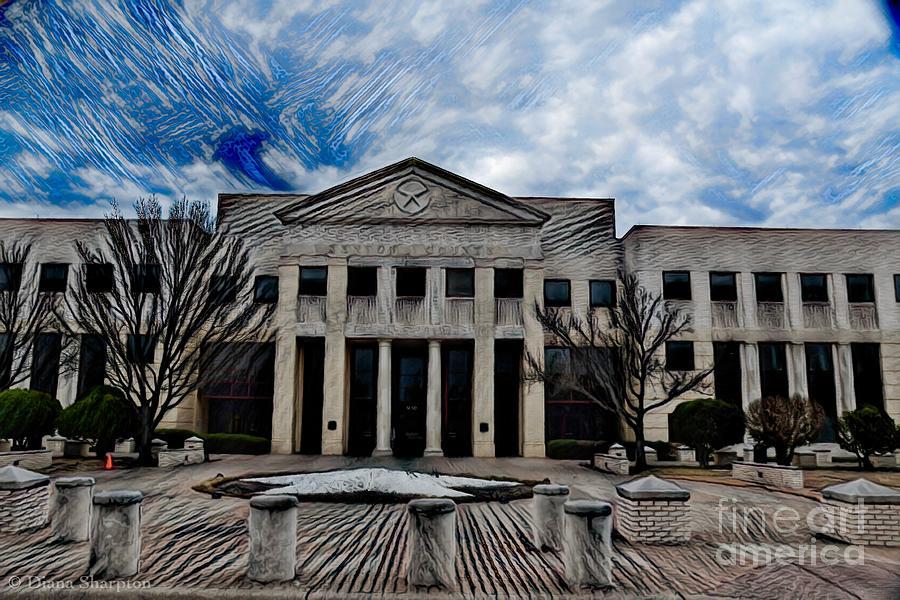 Denton County Courthouse by Diana Mary Sharpton