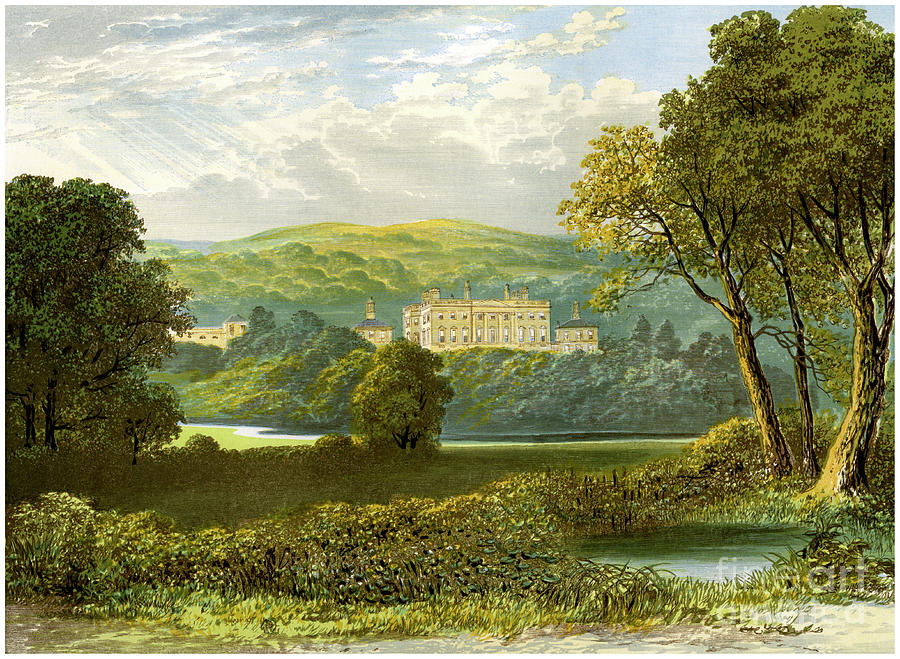 Denton Park, Yorkshire, Home Drawing by Print Collector