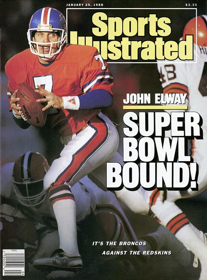 Denver Broncos Qb John Elway, 1988 Afc Championship Sports Illustrated Cover Photograph by Sports Illustrated
