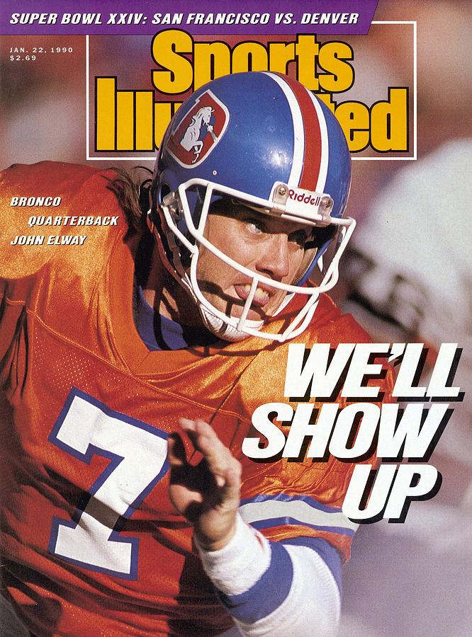 Denver Broncos Qb John Elway, 1990 Afc Championship Sports Illustrated Cover Photograph by Sports Illustrated