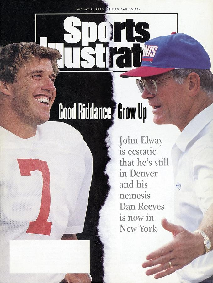 Denver Broncos Qb John Elway And New York Giants Coach Dan Sports Illustrated Cover Photograph by Sports Illustrated