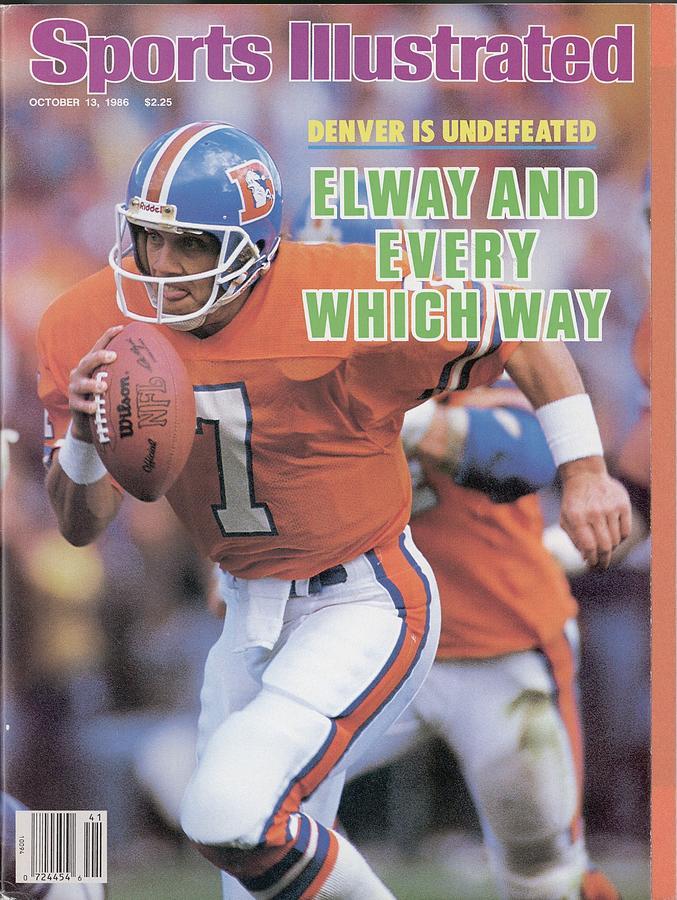Denver Broncos Qb John Elway... Sports Illustrated Cover Photograph by Sports Illustrated
