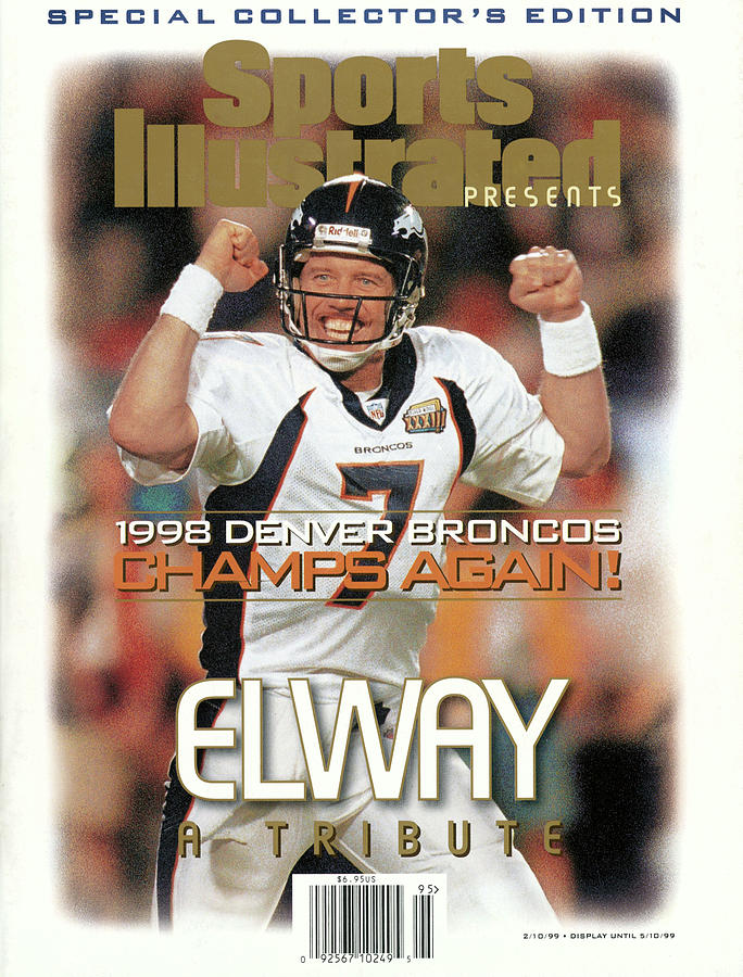 Denver Broncos Qb John Elway, Super Bowl Xxxiii Champions Sports Illustrated Cover Photograph by Sports Illustrated