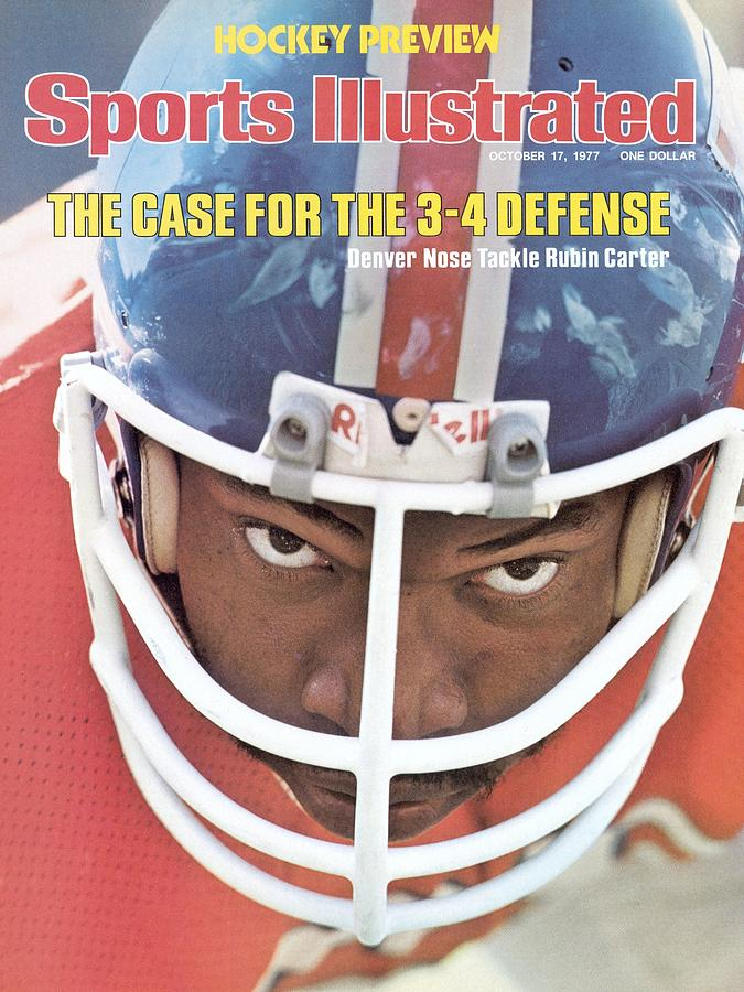 Denver Broncos Rubin Carter Sports Illustrated Cover Photograph by Sports Illustrated
