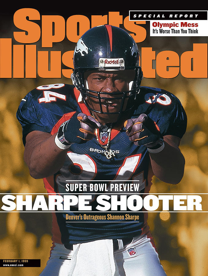 Denver Broncos Shannon Sharpe, 1999 Afc Championship Sports Illustrated Cover Photograph by Sports Illustrated
