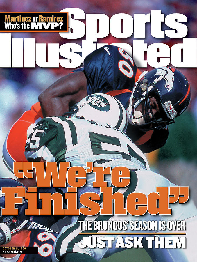 Denver Broncos Terrell Davis... Sports Illustrated Cover Photograph by Sports Illustrated