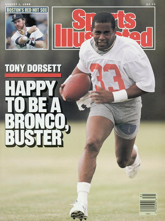 Denver Broncos Tony Dorsett... Sports Illustrated Cover Photograph by Sports Illustrated